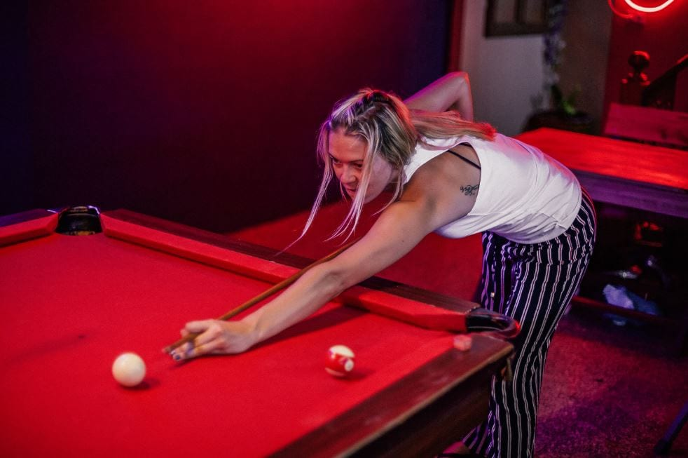 Playing pool in Chiang Mai Thailand