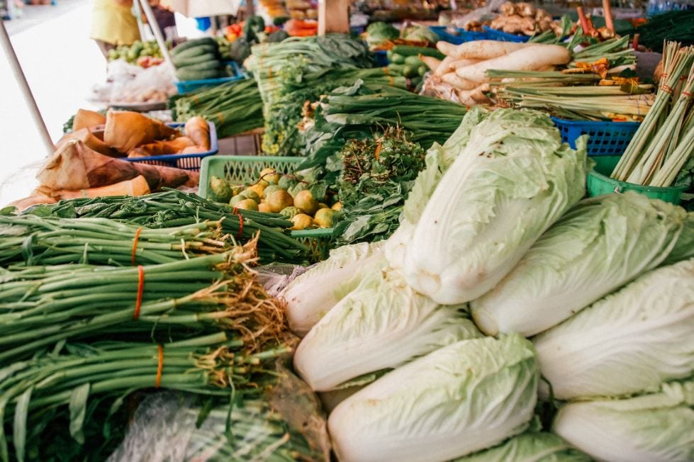 Food market in Chiang Mai Thailand