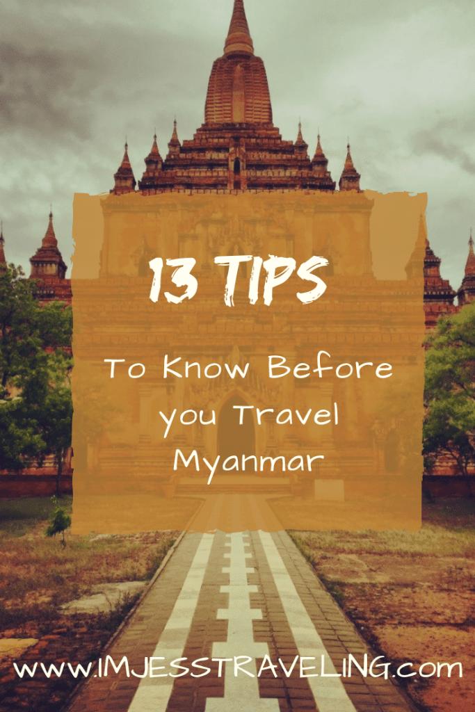 I'm Jess traveling through Myanmar travel tips