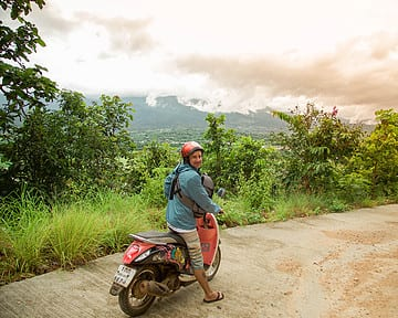 Exploring Pai Thailand via scooter