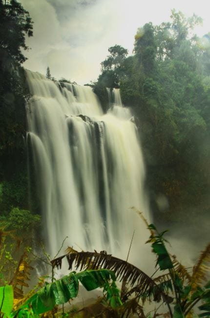 Tad Yuang on the Bolaven Plateau Laos