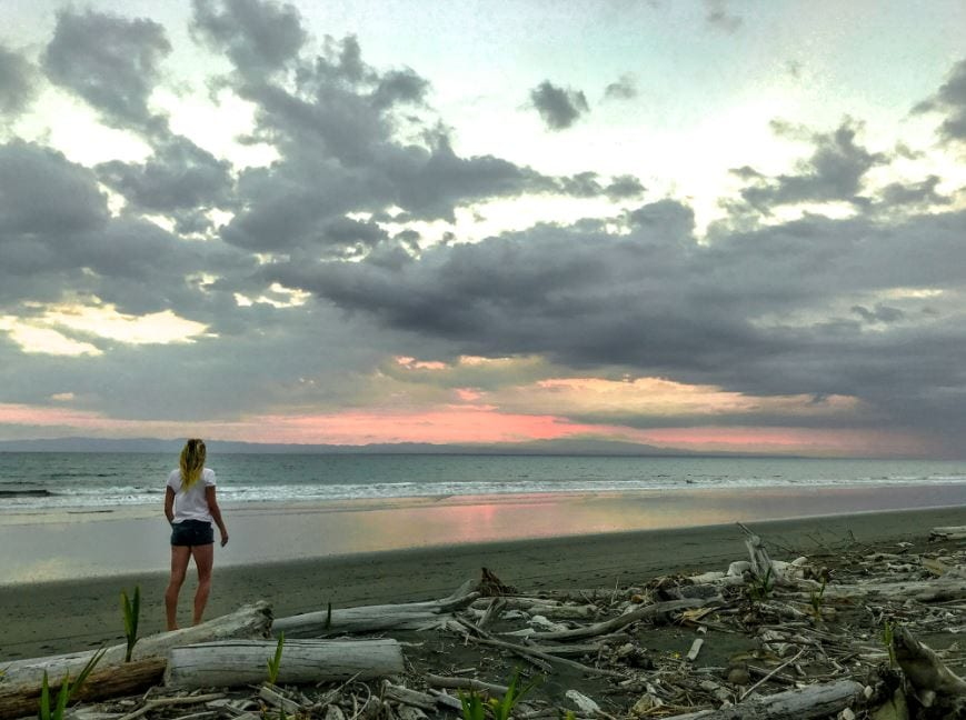 9 mile long beach in zaancudo Costa Rica