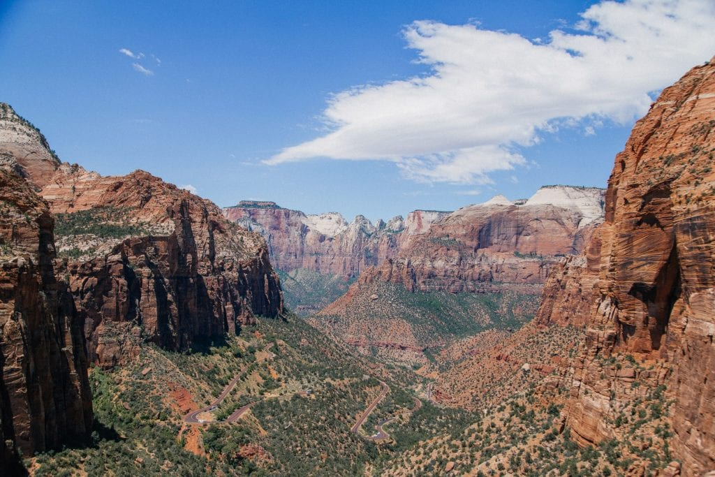 The views of Zion Canyon on a southern Utah vacation