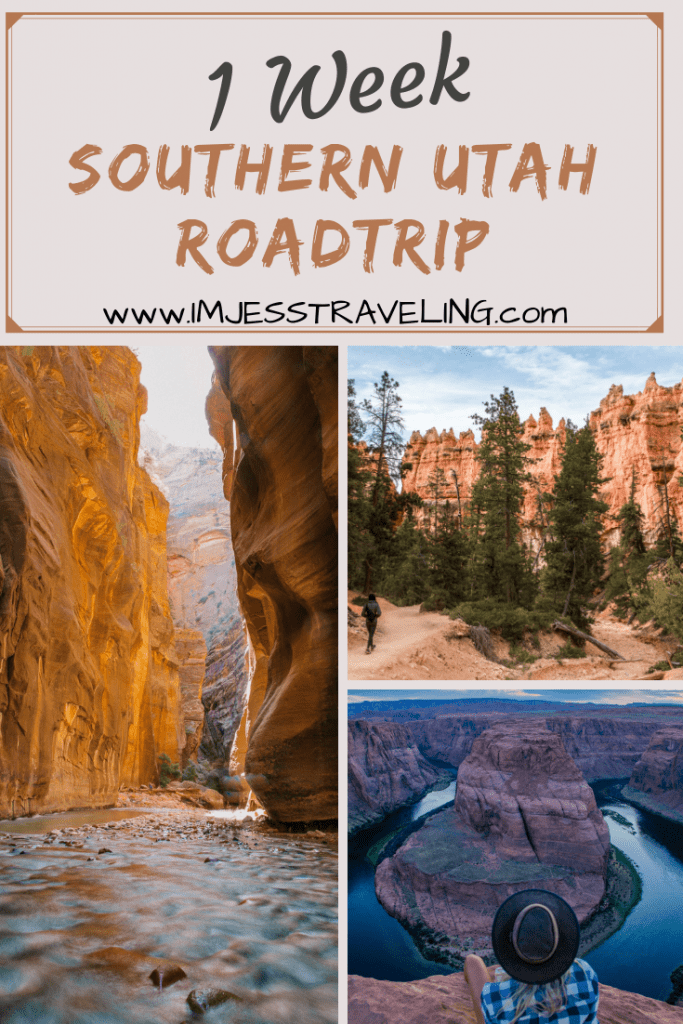 This is the ultimate southern Utah vacation. This road trip takes you through several of Utah's National Parks including Zion and Bryce Canyon with I'm Jess Traveling