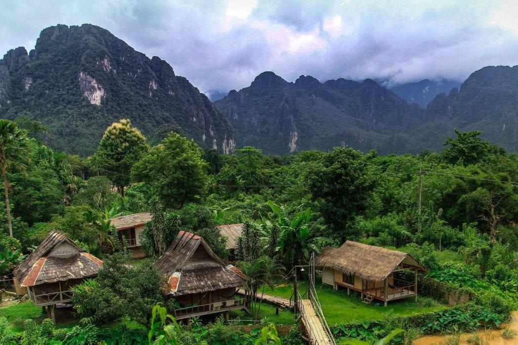 Beautiful Lush green Laos