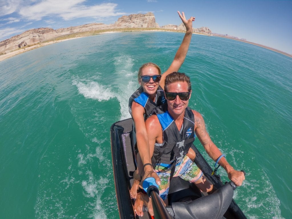 Lake Powell water sports on a southern Utah vacation