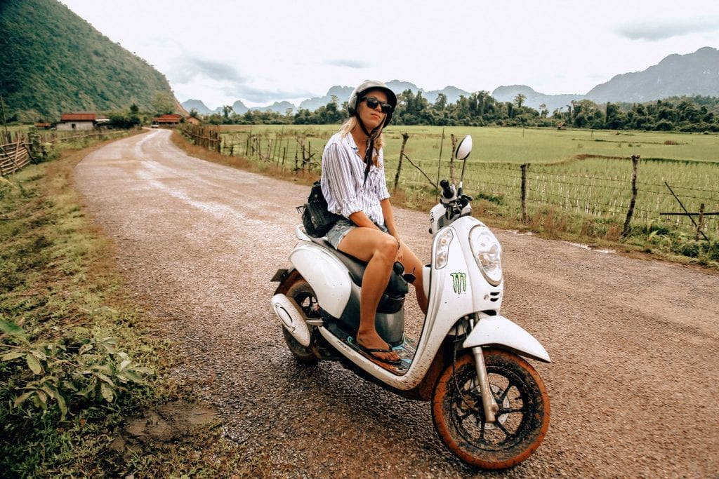 Exploring Laos by moped