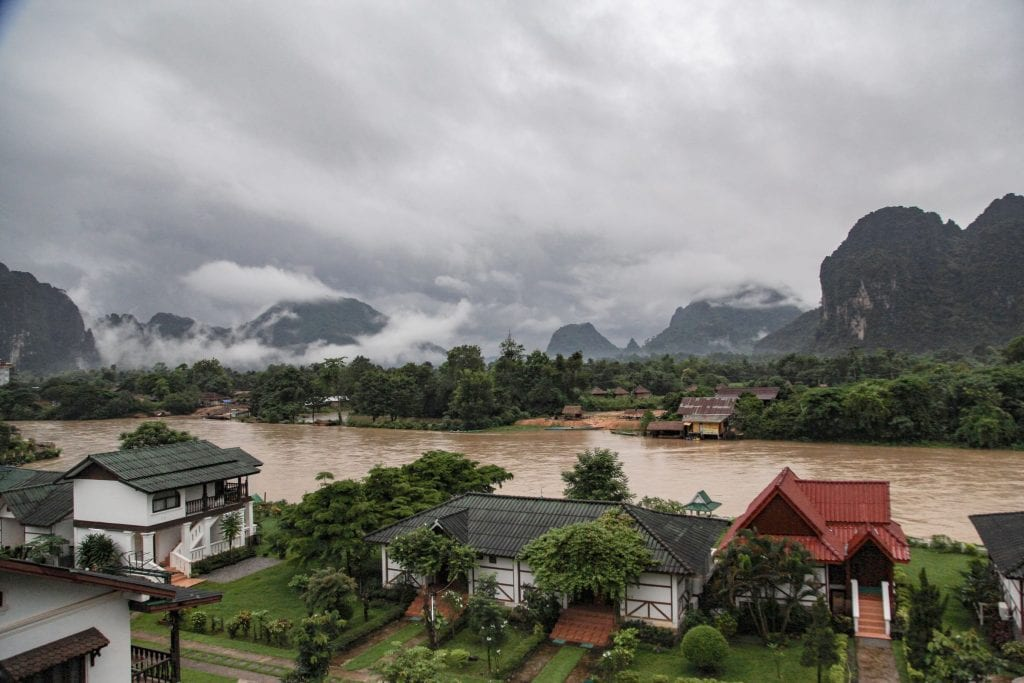 View of the Nomh Song river in Laos