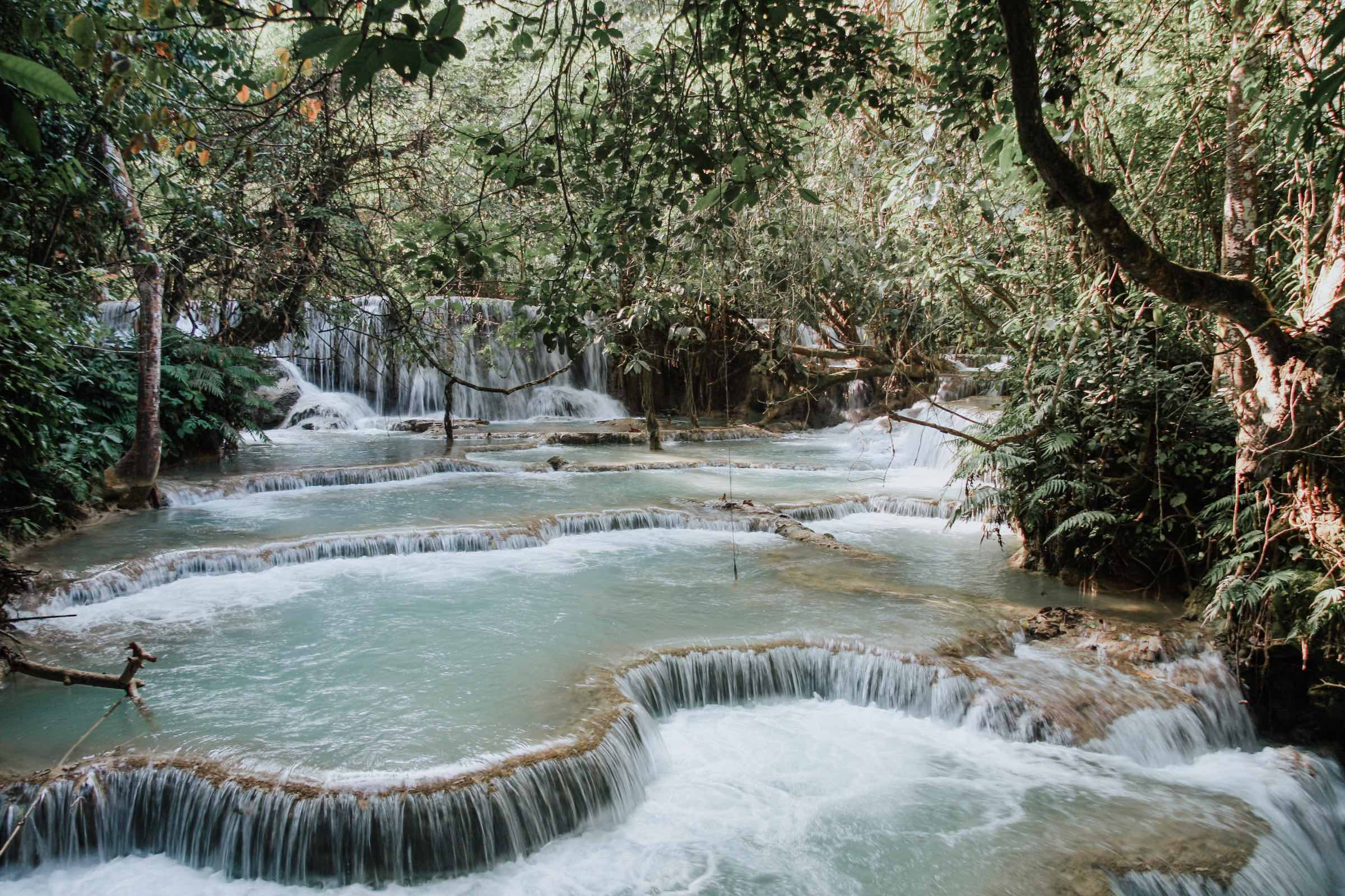 Kuang Si Falls things to do in luang prabang laos with I'm Jess Traveling