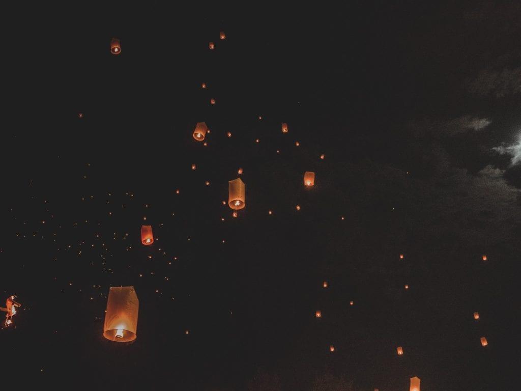 Lantern Festival in Chiang Mai Thailand
