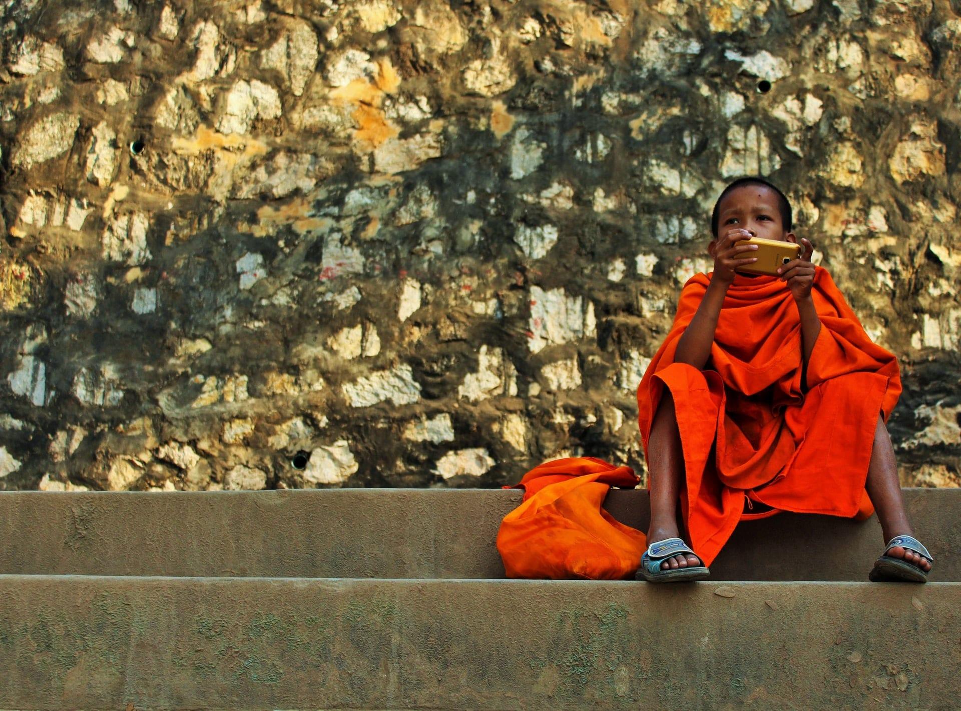 Buddist Monk in Luang Prabang, Laos