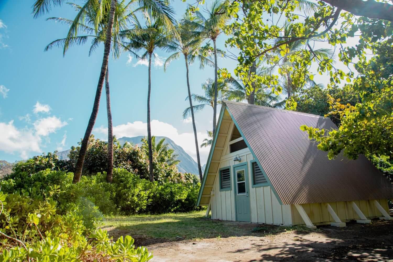 Camp Olowalu cabins on Maui Hawaii