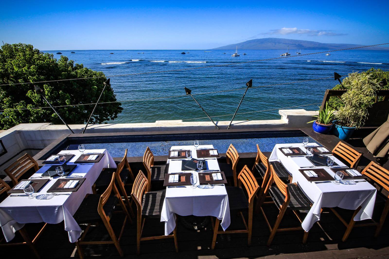 The best view while eating lunch in Lahaina Maui