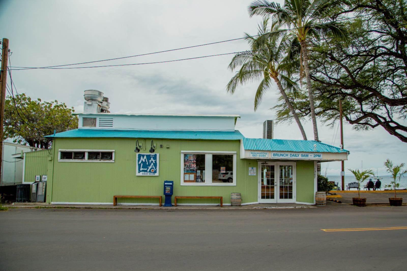 Mala restaurant on Front street Lahaina, Maui
