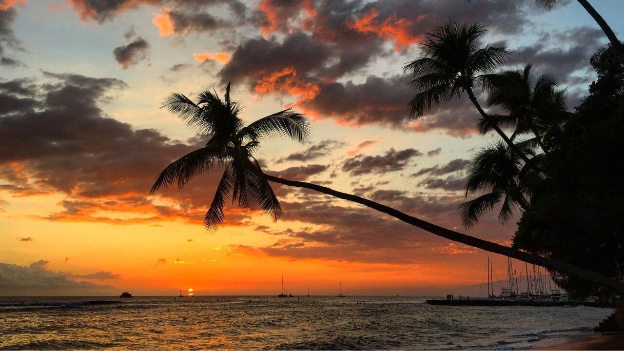 Sunset at 505 beach Lahaina Maui