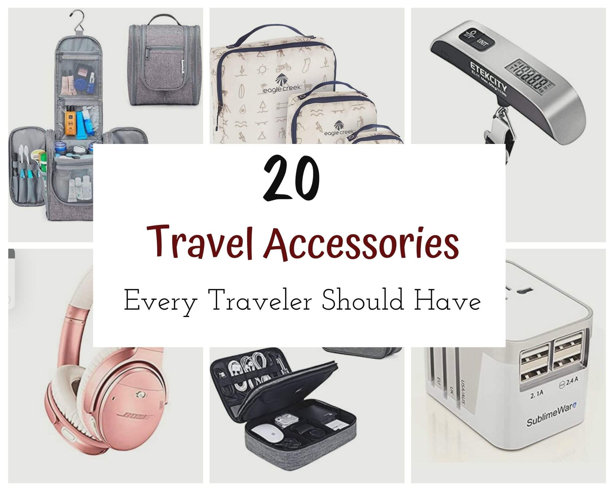 Travel Accessories with I'm Jess Traveling '