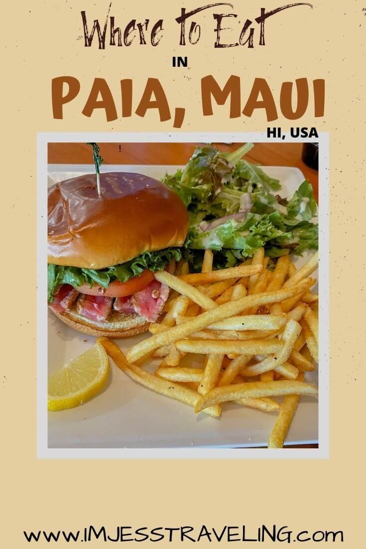 Paia Maui restaurants