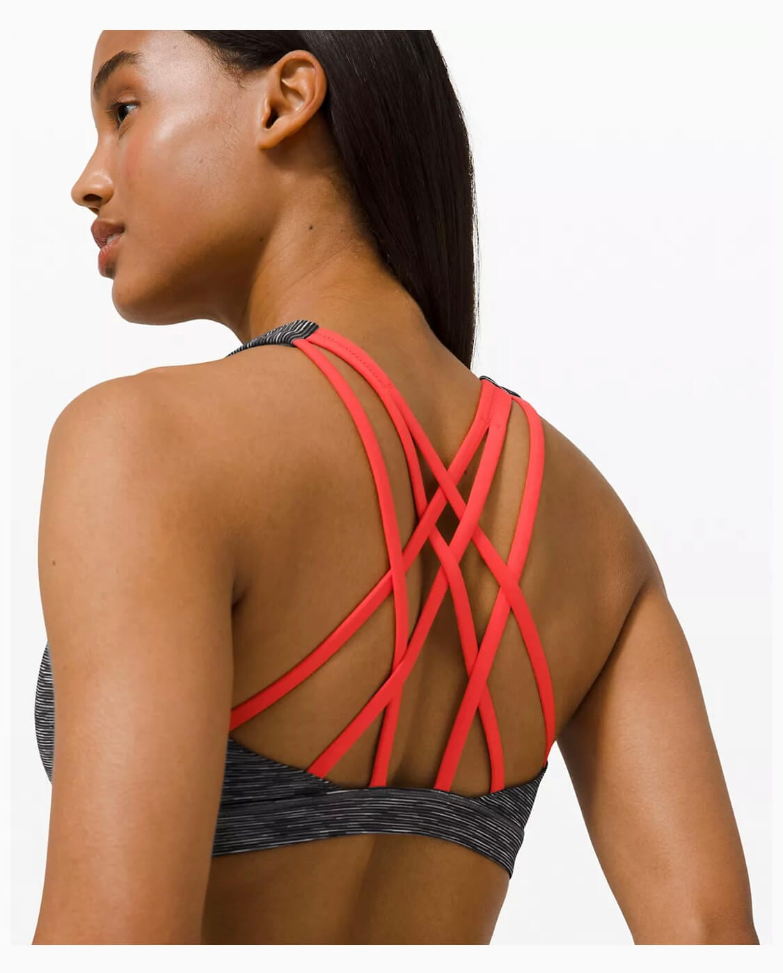 Strappy sports bra for hiking